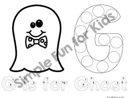 Free Dot Marker Coloring Pages Halloween 3 Challenge Printable Bingo