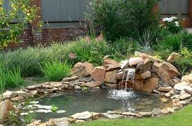 small outdoor garden small backyard ponds with waterfalls and beautiful garden decorating ideas and natural stone with planters also flower and grass small