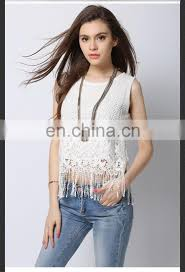Fancy Top Design For Girl 2016 New Fashion Girls Tops With Tassels Latest Design Girls