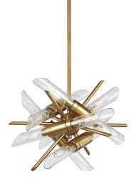 murray feiss f3180 12bbs quorra 12 light chandelier in burnished brass with clear fluted glass