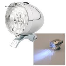 Đèn pha LED 3 bóng 2 chế độ sáng kiểu cổ điển cho xe gắn máy