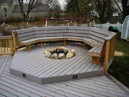 small deck fire pit design and ideas