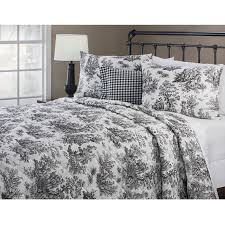 delectably yours decor jamestown toile 4 pc queen quilt set