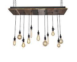 11 light reclaimed wood chandelier