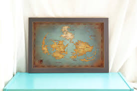 World Map Home Decor Final Fantasy Vii World Map Vintage Style Art Print