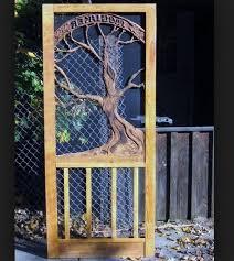 decorative wooden screen doors designs