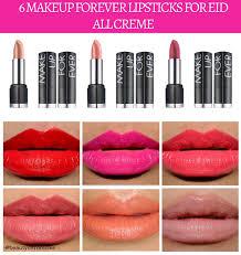 6 makeup forever lipsticks for eid 2016 creme series