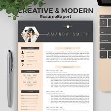 professional resume template cv template cover letter creative modern resume bundle 1 3 page word resume instant download amanda mb proffesional resume templates
