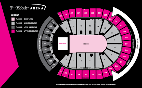Seating Maps T Mobile Arena