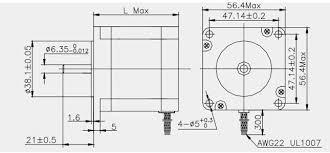 Stepper Motor Size Chart 3 Axis Nema 23 Stepper Motor 396 Oz In Single Shaft 3 Pcs