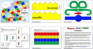 Free Printable Spanish Numbers & Colors Game - PK1HomeschoolFUN