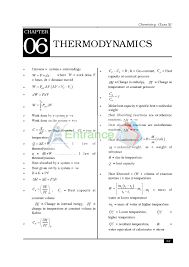 Important Chemistry Formula Chart Chemistry Formula For Class 11 Chapter Thermodynamics