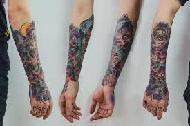 цветные татуировки для девушек на ноге