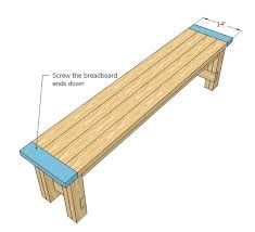 Free Plans For Making A Rustic Farmhouse Table Bench  A Lesson Plans For Building A Bench