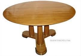 neoclassical round walnut dining table