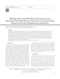 Pdf Multiple Intravitreal Ranibizumab Injections For