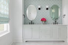 pale gray dual washstand with ann sacks capriccio field tile sky blue