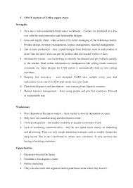 supply chain of zara shopper satisfaction 8 5 swot analysis of zara