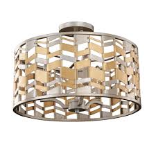 19 Inch Flush Mount Ceiling Light Broadway 19 Inch Convertible Pendant Semi Flush Mount
