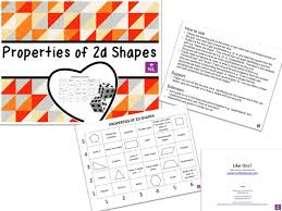 properties of 2d shapes learning grid