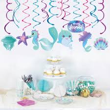 Design Mermaid Yishu New Design Occasion Cute Decoration Pvc Foil Swirls Children Mermaid Birthday Party Supplies Buy Mermaid Birthday Party Mermaid Birthday Party