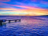 blue caribbean sunset
