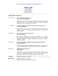 Brilliant Ideas of Sample Resume Civil Engineer Project Manager On Example