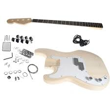 solo pb style diy bass guitar kit basswood left handed only