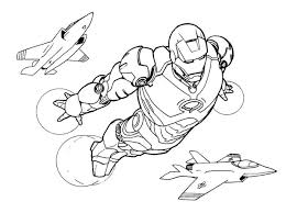 Small Picture Iron Man Fly Airplane Coloring Page Bebo Pandco