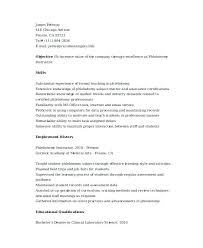 Phlebotomist Resume Examples – Lifespanlearn.info