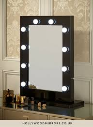 black vanity table with lights. angelina hollywood mirror in black gloss 80 x 60cm. mirrored vanityvanity mirrorslighted vanity table with lights