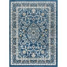 5 x 7 medium blue gray area rug rugs 5x8