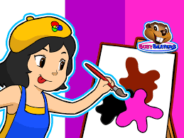 Princess Colors Black White Brown Kids Dance Pop Song Teach