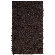 leather dark brown 5 ft x 8 ft area rug