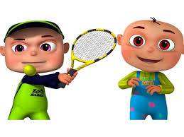playing cartoon zool babies playing tennis cartoon animation for children funny