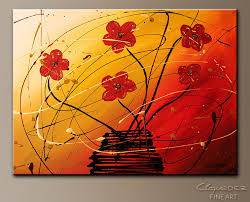 dripping flowers abstract art painting image by carmen guedez