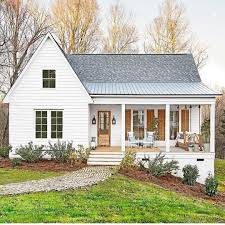 The perfect white house -- love the natural wood accents. Modern ...