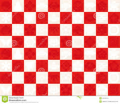 Checkered Design Red And White Checkered Pattern To Use For The Traditional Design