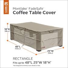 new montlake fadesafe rectangular patio ottoman coffee table cover heavy duty outdoor furniture cover