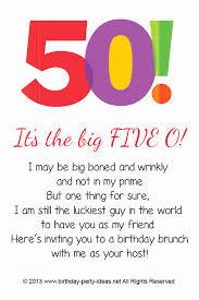 50th Birthday Invitation Template Beautiful Free 50th