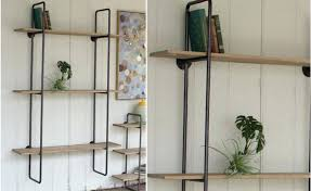 wood wall shelf metal and wood wall shelves marvelous three tiered frame shelf with wooden