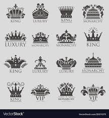 Logo With Crown King Crown Logo Vintage Premium Golden