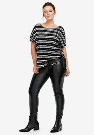 skinny leather pants by ellos