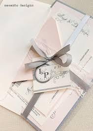 the 25 best ribbon wedding ideas on pinterest aisle markers Ribbon On Wedding Invitation blush and grey lace wedding invitation tying a ribbon on a wedding invitation