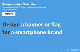 Logo Design Challenge Generator Sharpen Design Random Graphic Design Challenge Generator