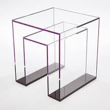 Acrylic furniture Luxury Brilliant Acrylic Side Table Alexandra Von Furstenberg Avf Products Acrylic Furniture