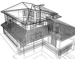 modern architecture sketch. 3d Abstract Modern Architecture, Stock Photo Architecture Sketch O