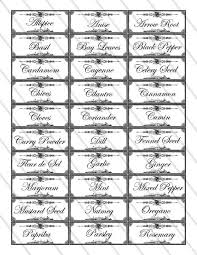 Spice Jar Labels Printable Herb And Spice Labels Printable Organizing Kitchen Organization