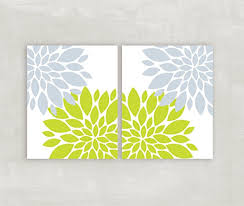 blue grey lime green wall art floral burst home decor flowers dahlia pictures bedroom wall art on lime green bathroom wall decor with amazon blue grey lime green wall art floral burst home decor