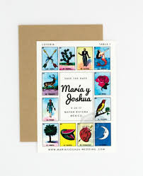 destination wedding save the date loteria inspired colorful festive mexican loteria card wedding save the date maria suite